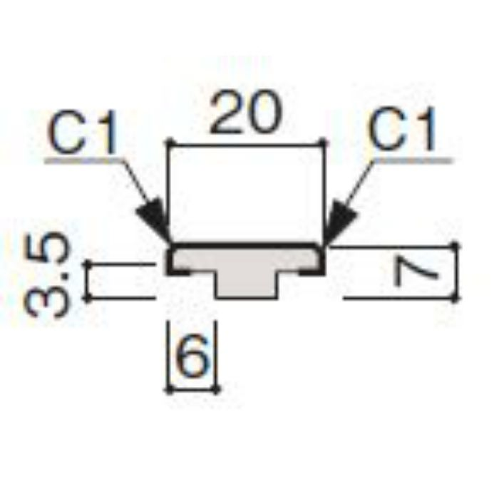 WF53-B5MW-42 グラビオ専用施工部材 木目柄(3mm) MW用天井施工用継手見切