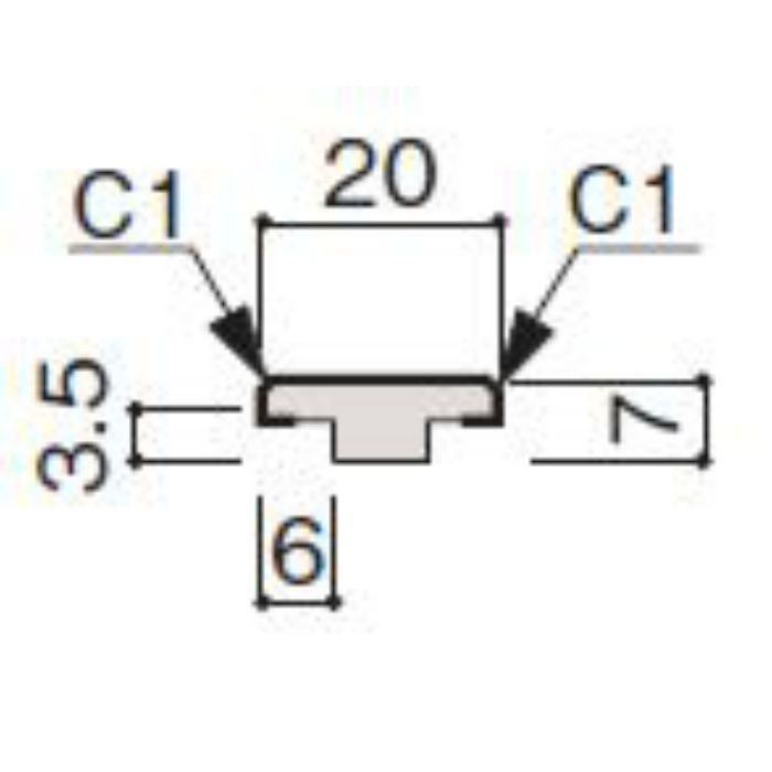 WF63-B536-42 グラビオ専用施工部材 木目柄(3mm) UB36用天井施工用継手見切