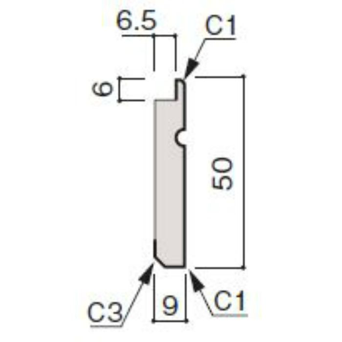 WF66-B874-92 グラビオ専用施工部材 UB木目柄(6mm) UB74用巾木
