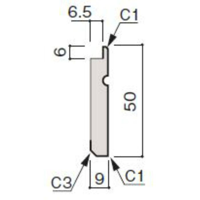 WF66-B837-92 グラビオ専用施工部材 UB木目柄(6mm) UB37用巾木