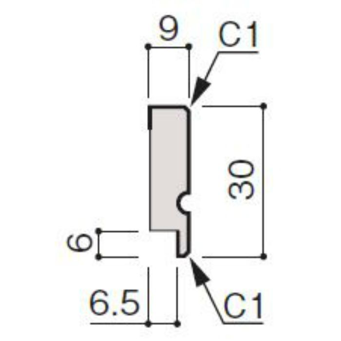 WF66-B922-92 グラビオ専用施工部材 UB木目柄(6mm) UB22用回り縁