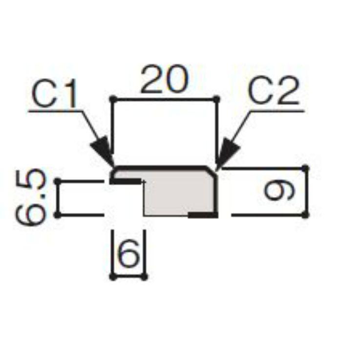WF66-B374-42 グラビオ専用施工部材 UB木目柄(6mm) UB74用見切(入隅兼用)