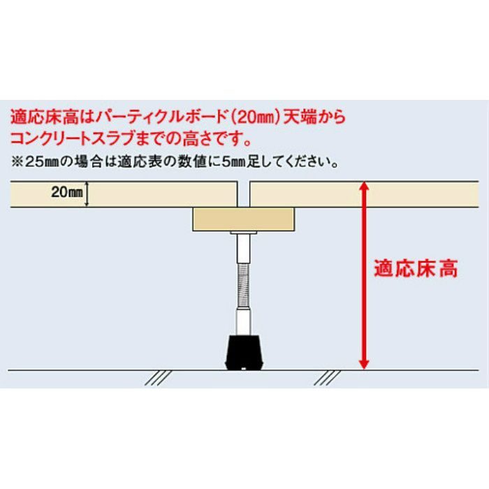 YPE型支持脚 YPE-220h (ハーフ梱包)