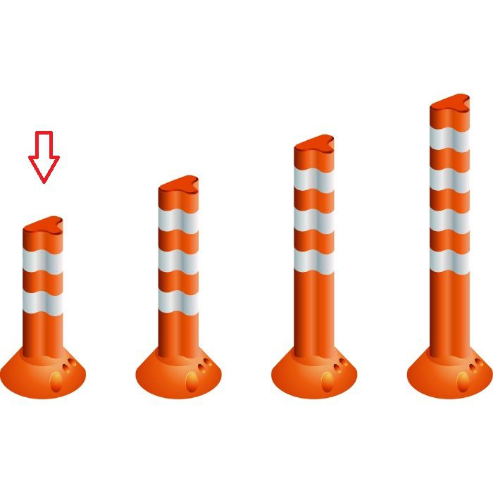 PF400 視線誘導標 ポストフレックス スタンダードタイプ オレンジ
