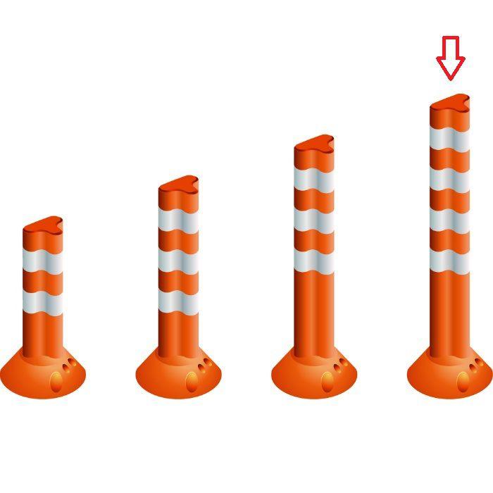 PF1000 視線誘導標 ポストフレックス スタンダードタイプ オレンジ