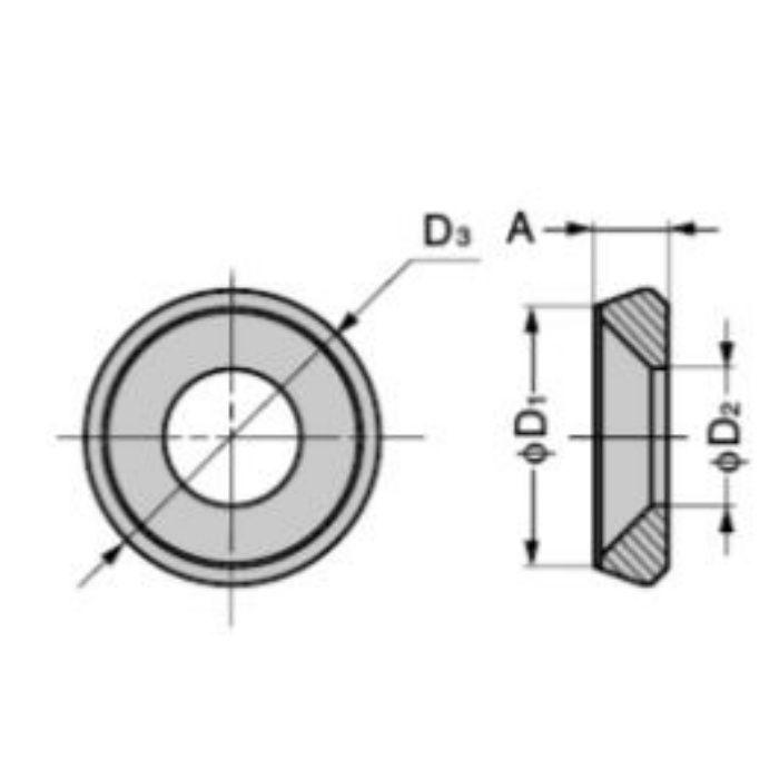 LAMP セットアップ座金 SETUP型 M3用 SETUP-SUS-M3-P100