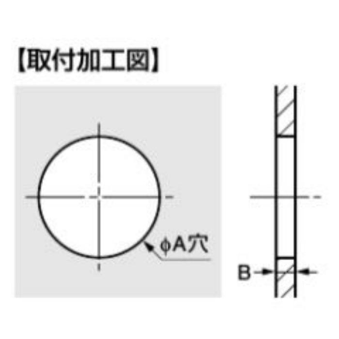 ワンタッチグロメット T-14583型(エチレンプロピレンゴム製) 耐候タイプ T-1458332-P50 ブラック