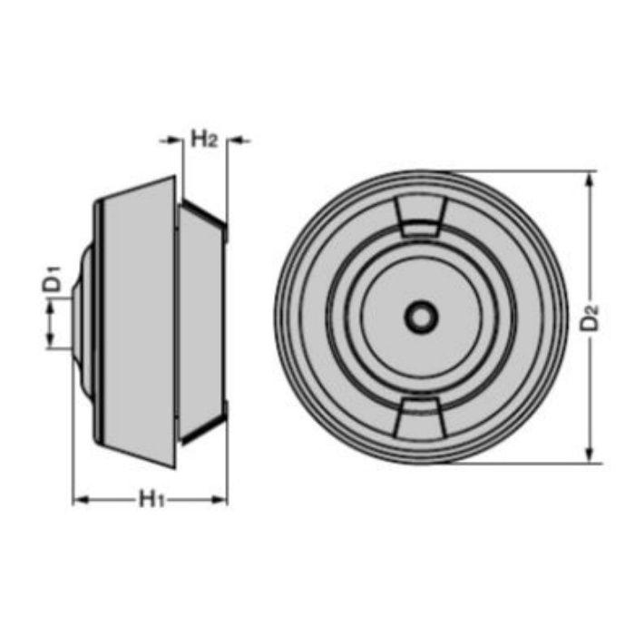 ワンタッチグロメット T-14758型 ホールドタイプ 板厚:2~5mm用 T-1475813-P50 ブラック