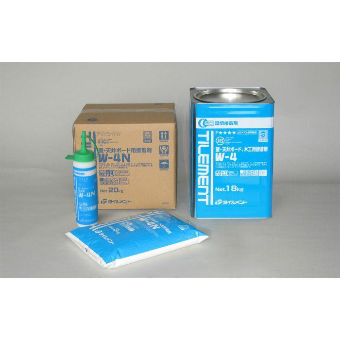 W-4N エコ 3kg 壁・天井ボード用接着剤 6袋/ケース