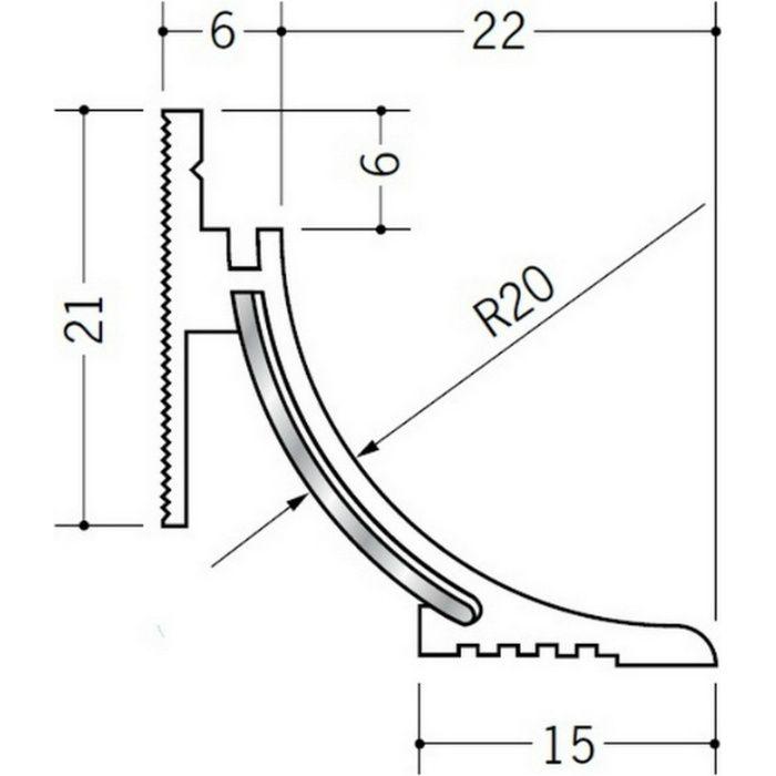 クリーンルーム用ボーダー PSR-220 直角出隅(床) オフホワイト