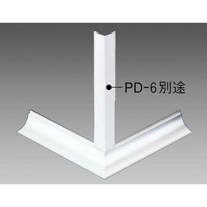 クリーンルーム用ボーダー PSR-530・PD-6 三方出隅(床) オフホワイト