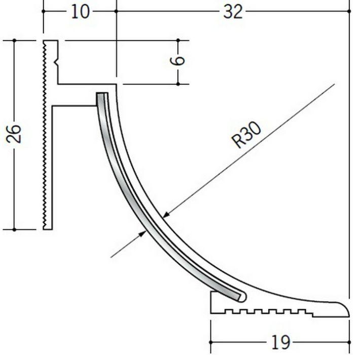 クリーンルーム用ボーダー SPB-130・230 三方入隅(床) オフホワイト