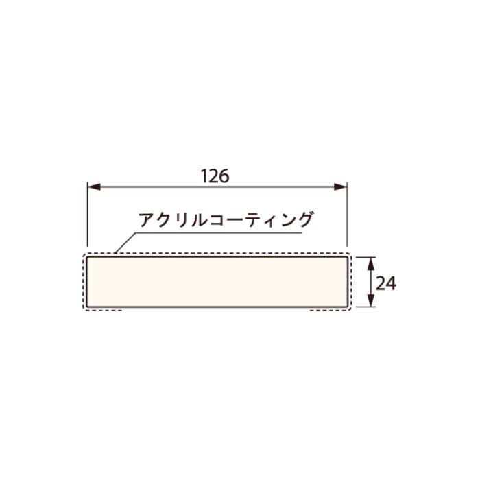 SP-N7003M24-UW 抗菌樹脂枠 三方枠 ムクタイプ 標準サイズ ウッドホワイト 間口=800mm