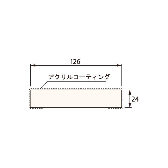 SP-N7004M24-UW 抗菌樹脂枠 三方枠 ムクタイプ 標準サイズ ウッドホワイト 間口=2200mm