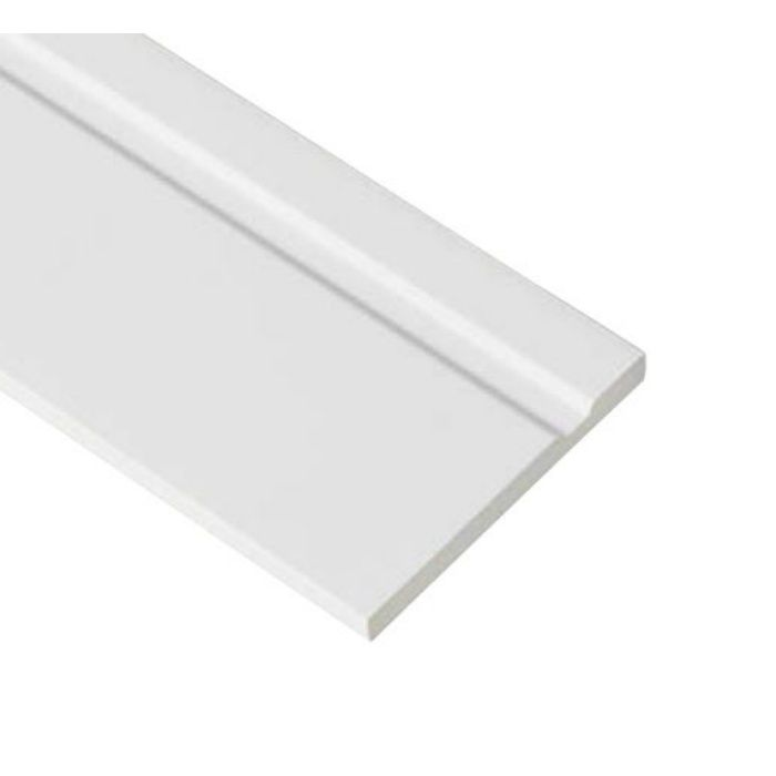 SP-SK120M-L23-WT 抗菌樹脂枠 隙間化粧カバー ムクタイプ ホワイト 7mm×120mm×2380mm