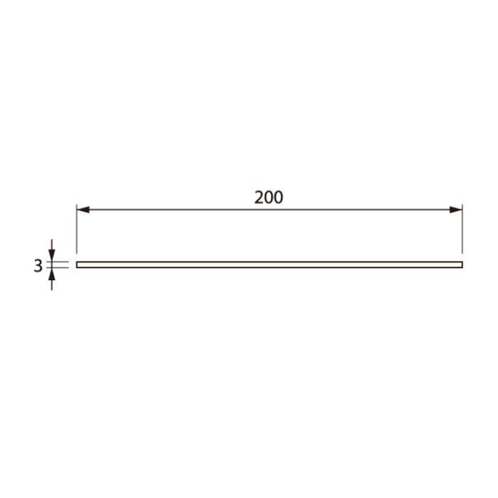 SP-200HI-L10-1-WT 抗菌樹脂枠 ひら板 ホワイト 長さ1000mm