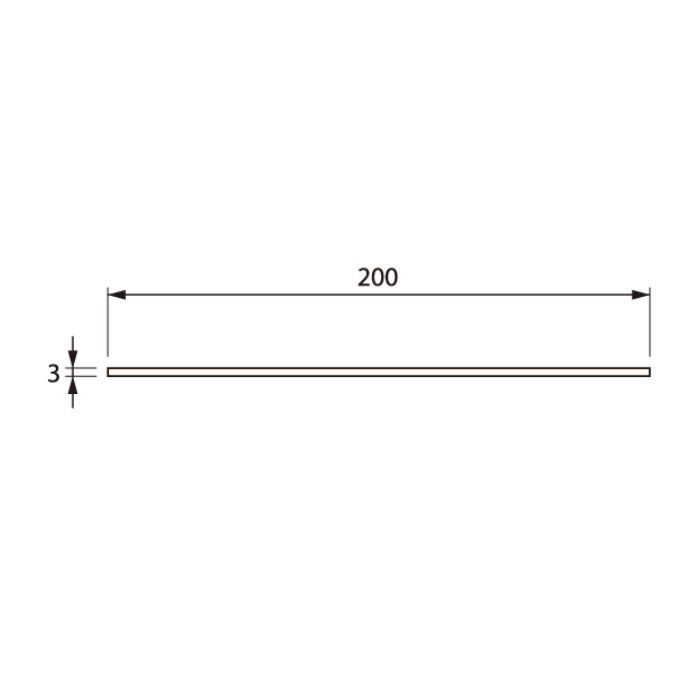 SP-200HI-L20-1-WT 抗菌樹脂枠 ひら板 ホワイト 長さ2000mm