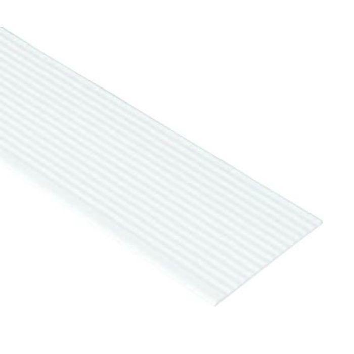 SP-126NI-L16-1-WT 抗菌樹脂枠 なみ板 標準サイズ ホワイト 126mm×3mm×1660mm