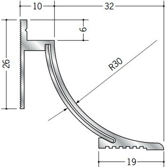 クリーンルーム用ボーダー アルミ CPB-4 直角入隅(床) 1辺あたり250mm(働き寸法) 57078
