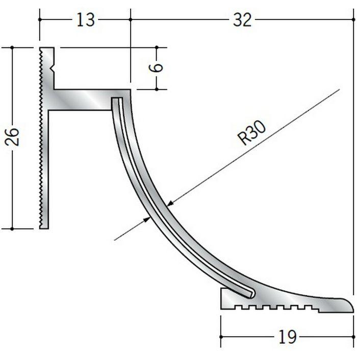 クリーンルーム用ボーダー アルミ CPB-5 直角出隅(床) 1辺あたり250mm(働き寸法) 57081