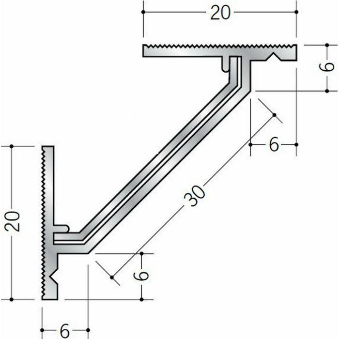 クリーンルーム用ボーダー アルミ CMR-1・CMR-4三方入隅(床) 1辺あたり250mm(働き寸法) 57056