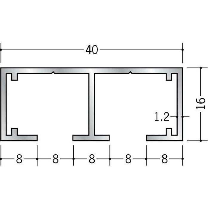 ピクチャーレール ビス止めタイプ アルミ PR-77F フック投入口あき アルマイトシルバー 3m 57138-1