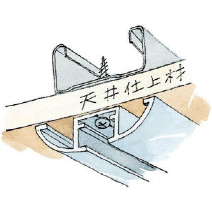 ピクチャーレール ビス止めタイプ アルミ PR-4217R フック投入口あき ホワイトアルマイト 3m 57158-2