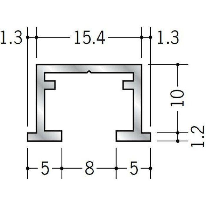 ピクチャーレール ビス止めタイプ アルミ PR-109 フック投入口あき 電解ブラック 3m 57117-3