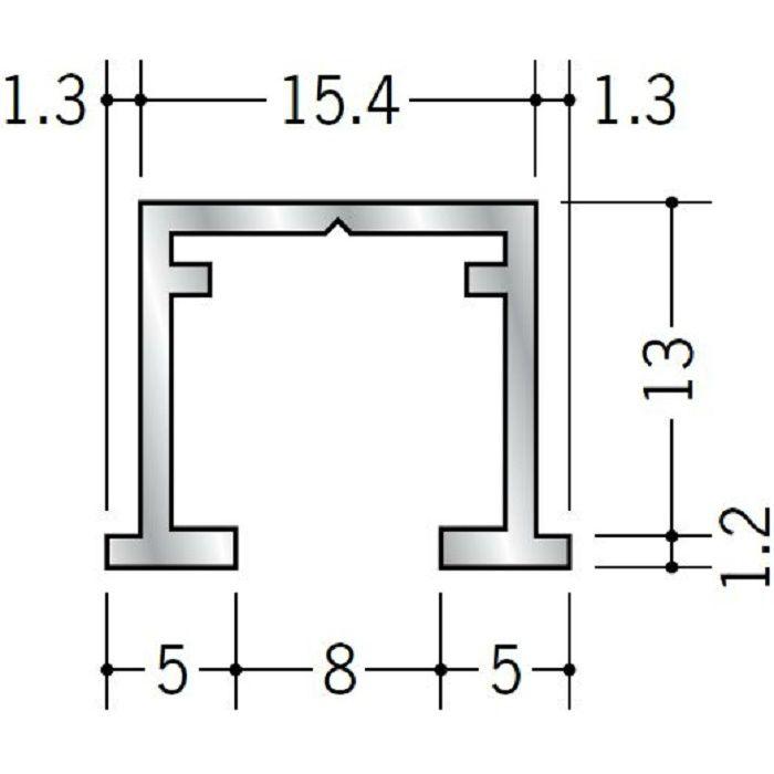 ピクチャーレール ビス止めタイプ アルミ PR-112用サイドカバー シルバー 57028-1