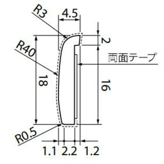 KB-4755-1 Sフロア 腰壁シート 見切り材