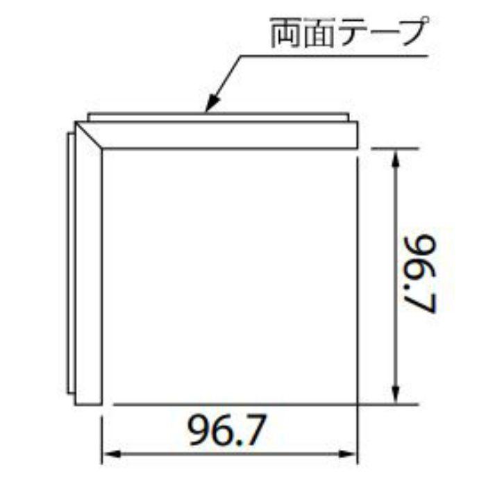 KB-4757-3 Sフロア 腰壁シート 入隅材