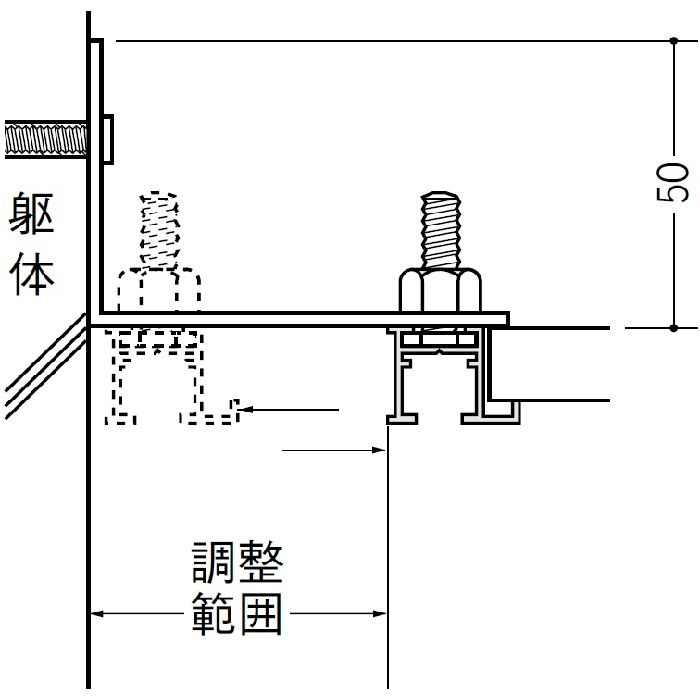 ピクチャーレール ブラケットタイプ アルミ PR-409 フック投入口あき(右側) アルマイトシルバー 3m 57145-1