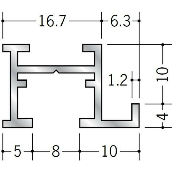 ピクチャーレール ブラケットタイプ アルミ PR-409 フック投入口あき(右側) 電解ブラック 3m 57145-3