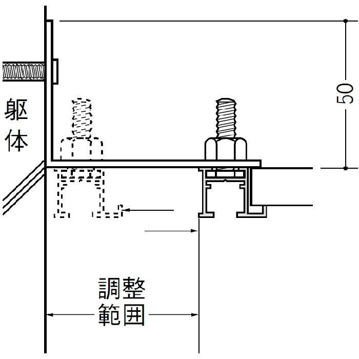 ピクチャーレール ブラケットタイプ アルミ PR-412 フック投入口あき(右側) アルマイトシルバー 3m 57146-1