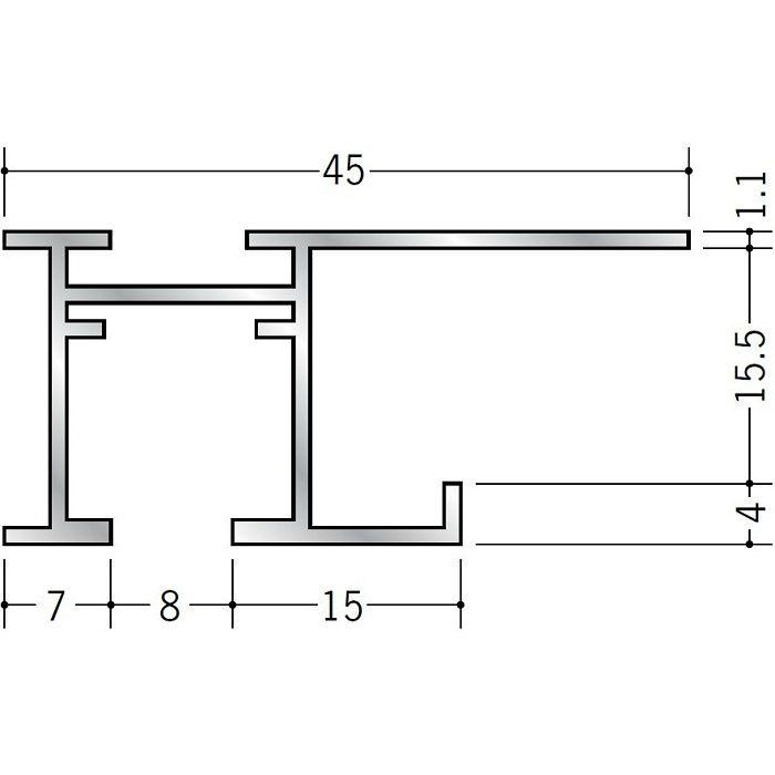 ピクチャーレール ブラケットタイプ アルミ PR-615S フック投入口あき(右側) 電解ブラック 3m 59112-3