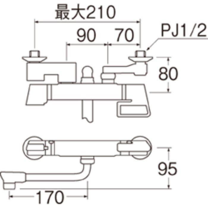 SK1813DK-13 サーモシャワー混合栓(寒冷地仕様)【壁付】