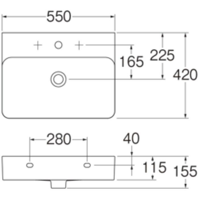 SL810282-W-104 洗面器 VAL