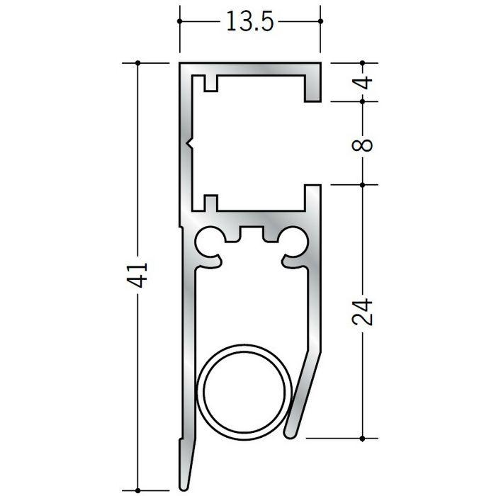 ペーパーレール アルミ APL-101(壁付用) アルマイトシルバー 2m 57047-1