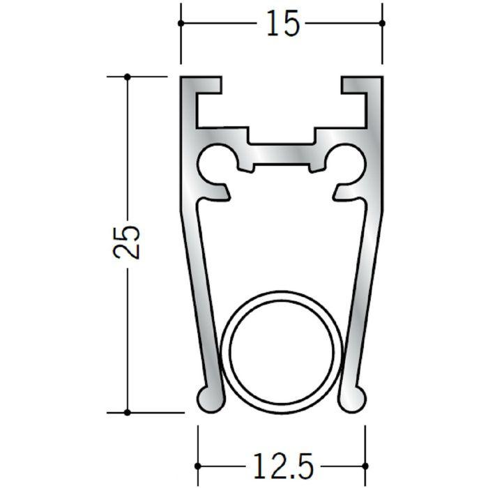 ペーパーレール アルミ APL-201天井付用 電解ブラック 2m 57048-3