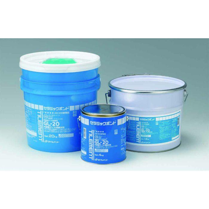 GL-20 4kg コテ付き 内装壁タイル張り用耐水形接着剤 6缶/ケース