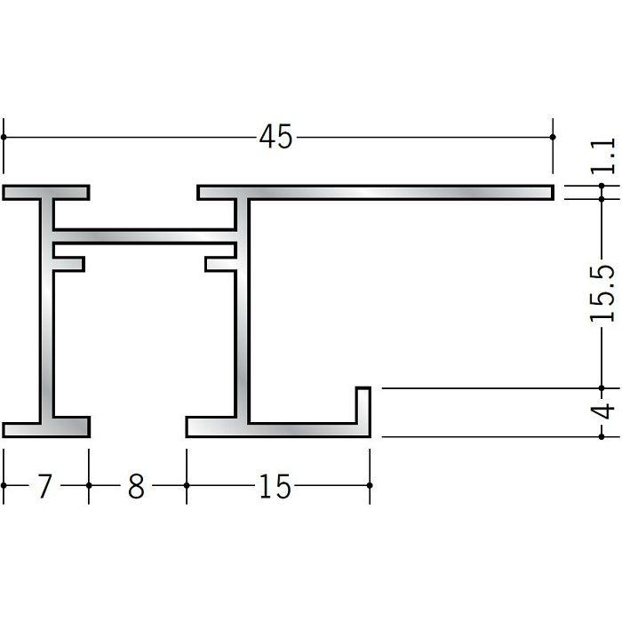 ピクチャーレール ブラケットタイプ アルミ PR-615S用サイドカバー(左用) ホワイト 57122-5