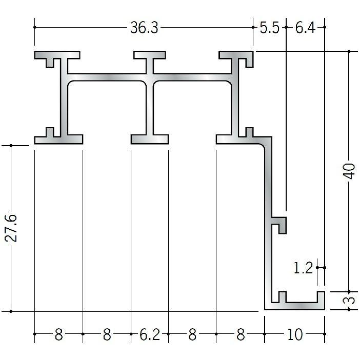 ピクチャーレール ブラケットタイプ アルミ PR-50F用サイドカバー(左用) ホワイト 57026-5