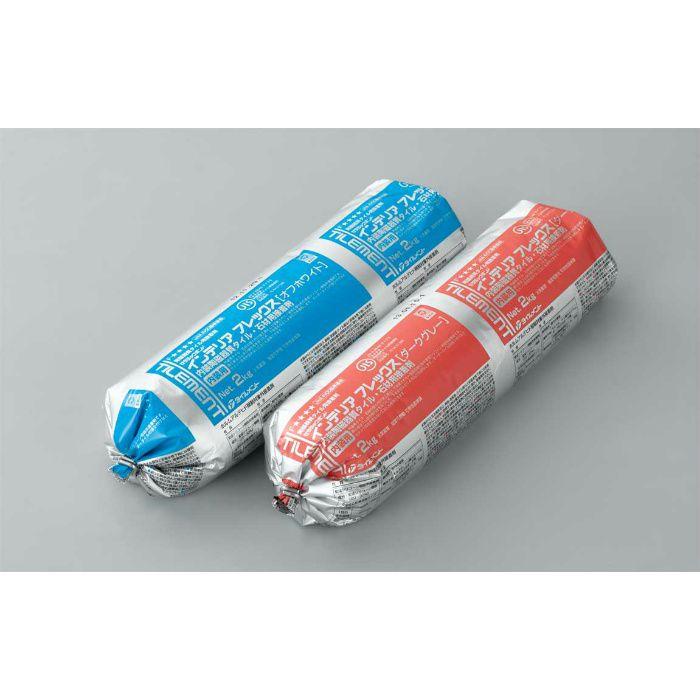 インテリアフレックス ダークグレー 2kg 内装陶磁器質タイル・石材・ガラスタイル用接着剤 9本/ケース