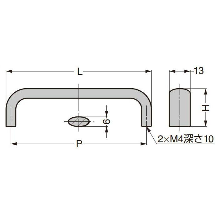 ランプ印 ステンレス鋼製ハンドル DL-SUS304型 DL-150M-SUS304