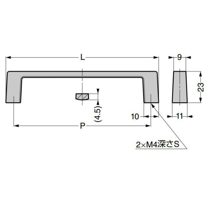 ランプ印 ダイカストハンドル 936型 936-100-SNI