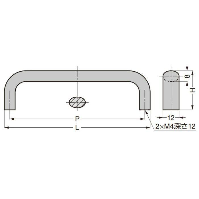 ランプ印 ハンドル KK-H型 KK-H80BL