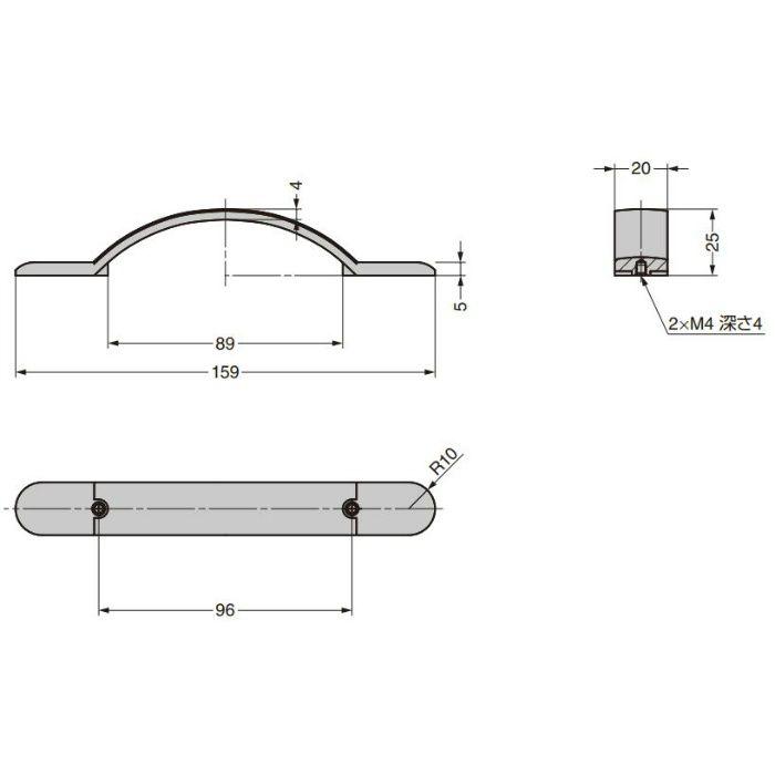 ハンドルCAHN-I-3772-96-I C&Aウェールズデザイン CAHN-I-3772-96-I