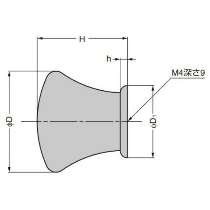 ランプ印 つまみ KK-T型 KK-T28BL