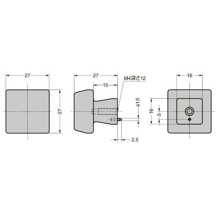 ランプ印 つまみ PXB-AC08-111型 エイジドキャストシリーズ ブロンズブラック PXB-AC08-111-BL