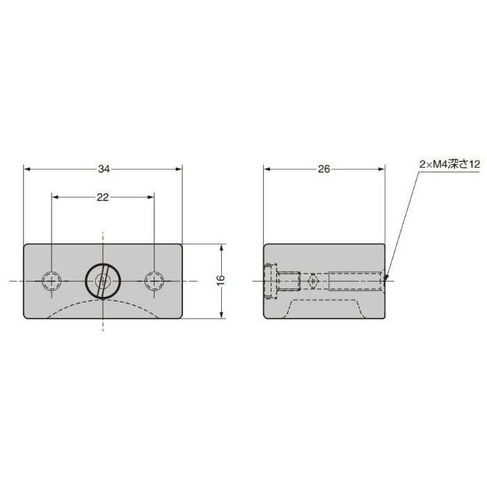 ランプ印 つまみ PXB-AS08-111型 エイジドスクリューシリーズ ブロンズブラック PXB-AS08-111-BR